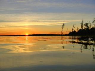 Sunset Sonnenuntergang Schweden Vidöstern